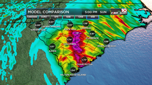 48 Hour Rainfall Comparison