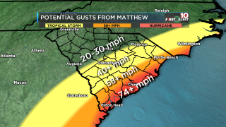 Manual Wind Gusts Forecast