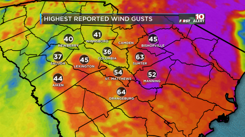 Daily Peak Wind Gusts DMA