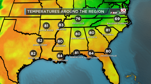 Temperatures Current Regional